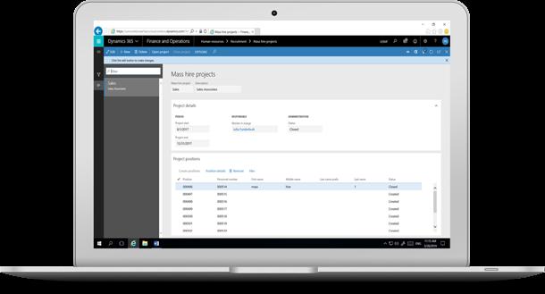 Microsoft Dynamics Payroll Dashboard