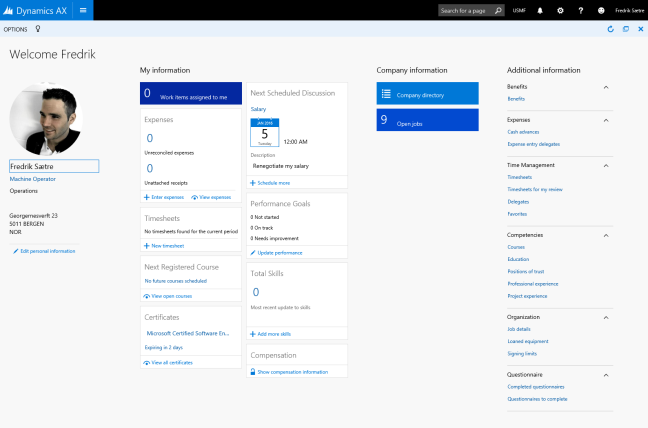 Microsoft dynamics 365 time and attendance